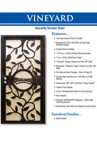 Heavy Duty Security Screen Doors