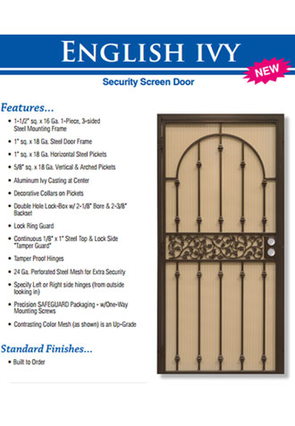 Security Screen Doors, Huntington Beach