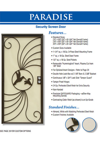 Custom Security Screen Doors, Aliso Viejo