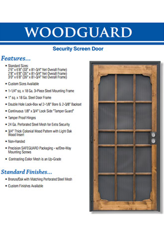 Security Screen Door, Dana Point