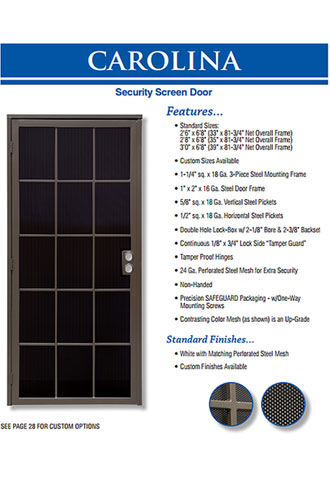 Custom Security Screen Door, Brea
