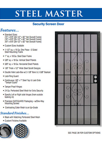 Steel Frame Security Screen Door, Fullerton