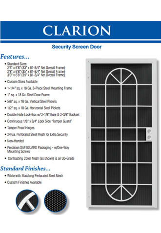Mobile Service for Security Screen Doors
