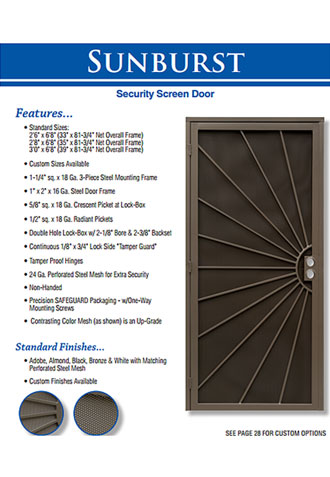 Custom Security Screen Doors, Coto De Caza
