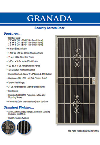 Security Screen Doors, Orange County