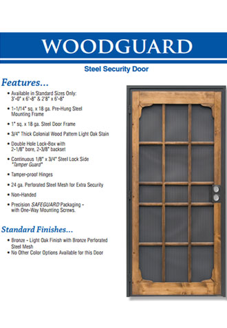 Custom Security Screen Door