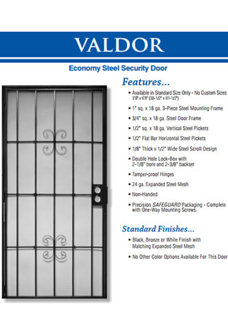 Steel Frame Security Screen Door Installation