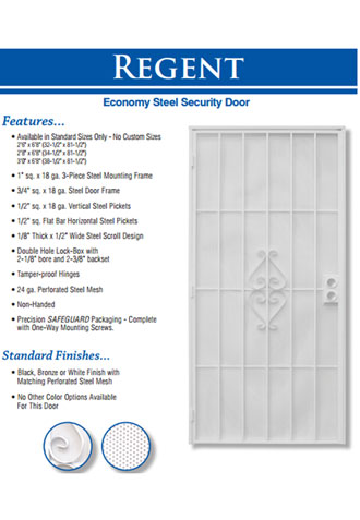 Custom Security Screen Door Installation