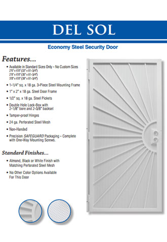 Custom Security Screen Door, Corona Del Mar