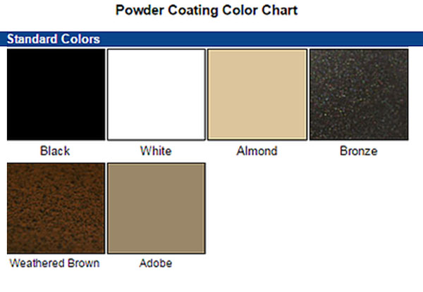 Screen Door Color Chart Aluminum Screen Door Color Chart