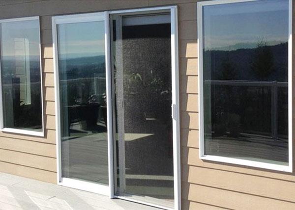 Vanishing Retractable Screen Door : Disappearing retractable screen doors orange county ca